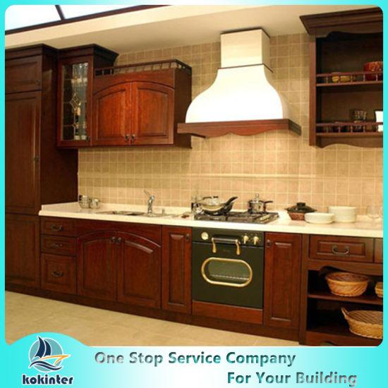 New Design China High Quality Soild Wood Kitchen Cabinet Three Modern