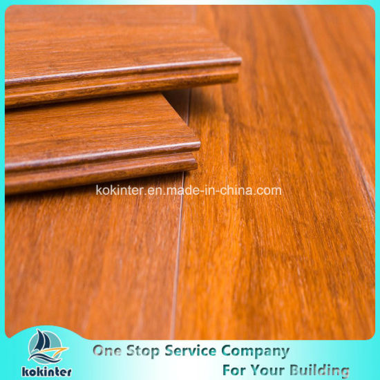 Cheapest Price Brushed Strand Woven Bamboo Flooring Indoor in Red Oak Color with High Quality