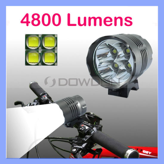 Battery Pack Lamp Head of the 4800 Lumens 4 x CREE XM-L T6 LED Headlamp