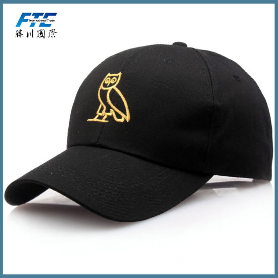 Custom 3D Promotion Embroidery Polo Baseball Cap with Metal Buckle pictures & photos