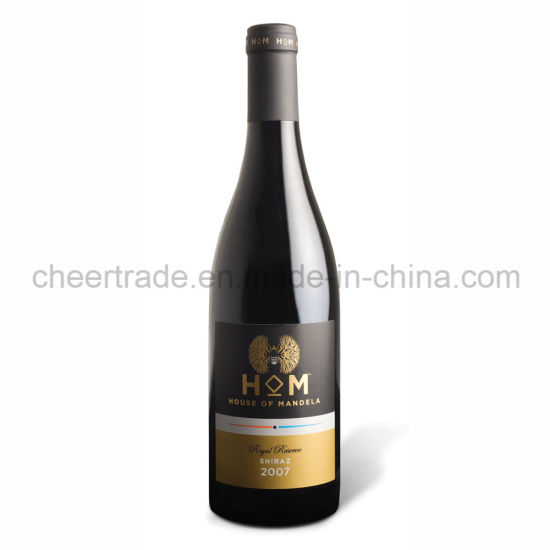 750ml Glass Burgundy Bottle with Pretty Labels
