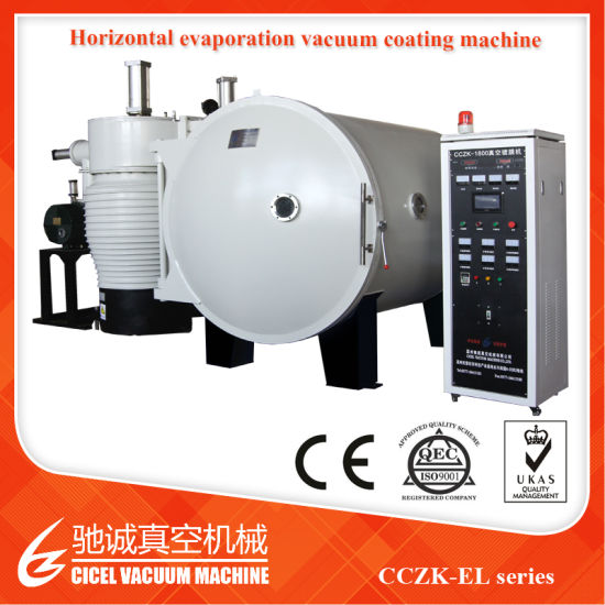 CZ-1400 Horizontal PVD Vacuum Coating for Helmet Visors/Decorative Film Vacuu Coating for Plastic Beads/Jewelry Metalizer Plant