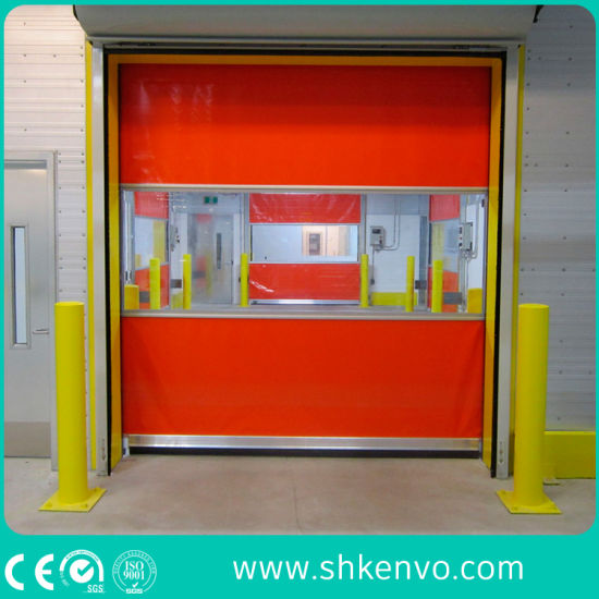 Flexible PVC Fabric Automatic Industrial Fast Acting Roller Shutter Doors for Warehouse or Factory