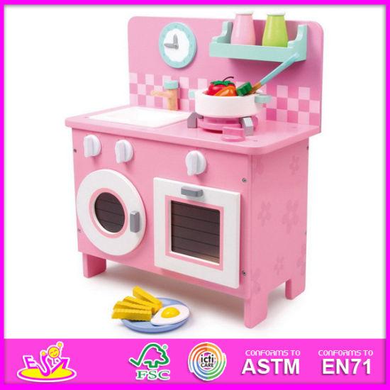 2014 Pink Wooden Kitchen Toy for Kids, Children Kitchen Toys Big Kitchen  Set Toy, Hot Sale Kitchen Set Toy for Baby W10c064