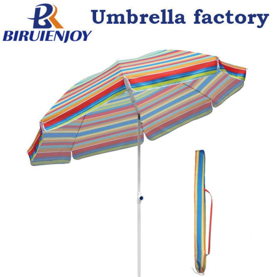 Outdoor Large 220cm Fashion TNT Beach Sun Umbrella with Flap Carry Bag