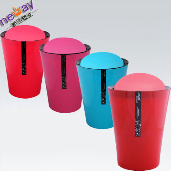 Four Coloures 2015 New Design Plastic Waste Bin pictures & photos