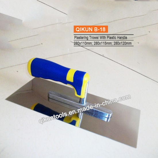 B-04 Construction Decoration Paint Hardware Hand Tools Wooden Handle Teeth Plastering Trowel pictures & photos