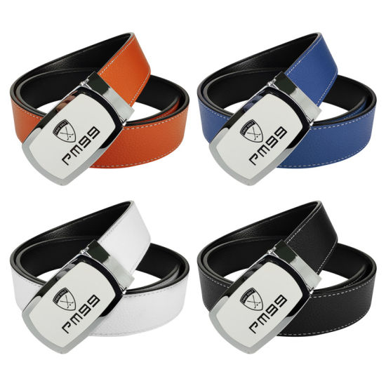 Genuine Leather Personalized Men's Western Belts for Golf