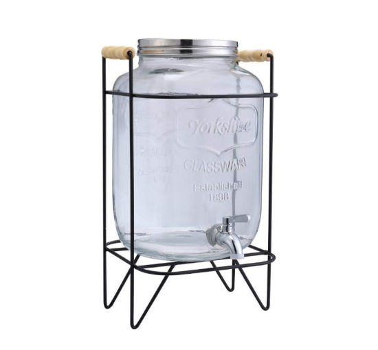 Glass Drink Dispenser with Stainless Steel Spigot pictures & photos