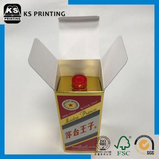 High-End Printing Collapsible Alcohol Box Paper Box Packaging Box