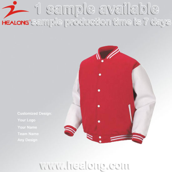 Healong Customzied Sportswear Any Size Baseball Zipper Sweater Hoodies pictures & photos