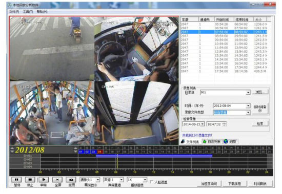 4 Cameras Mobile DVR Surveillance System with GPS/WiFi/3G/4G for Cars Vehicles pictures & photos