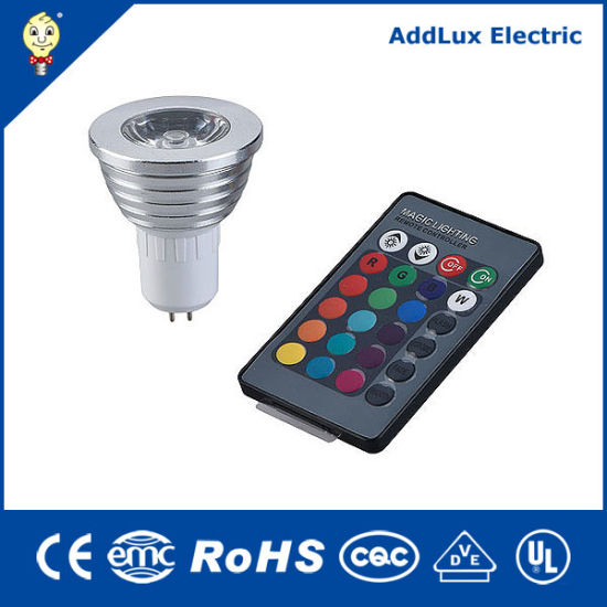 Ce UL Saso 5W COB GU10 Remote Control LED Spotlight Bulb Made in China for Home & Business Indoor Lighting From Best Distributor Factory