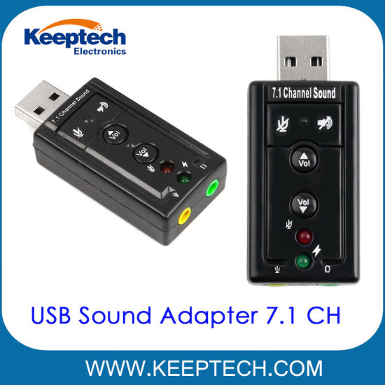 USB 2.0 Sound Adapter Virtual 7.1 Channel 3D Simulation