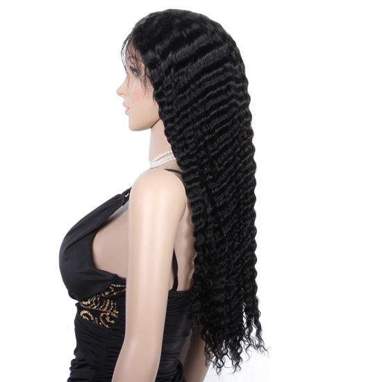 Wholesale Price High Quality Deep Wave Virgin Brazilian Hair Full Lace Wig Human Hair