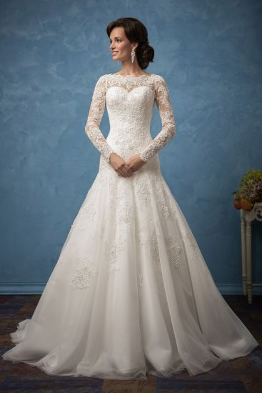 China Amelie Rocky Long Sleeve Lace Mermaid Cheap Wedding Gowns ...