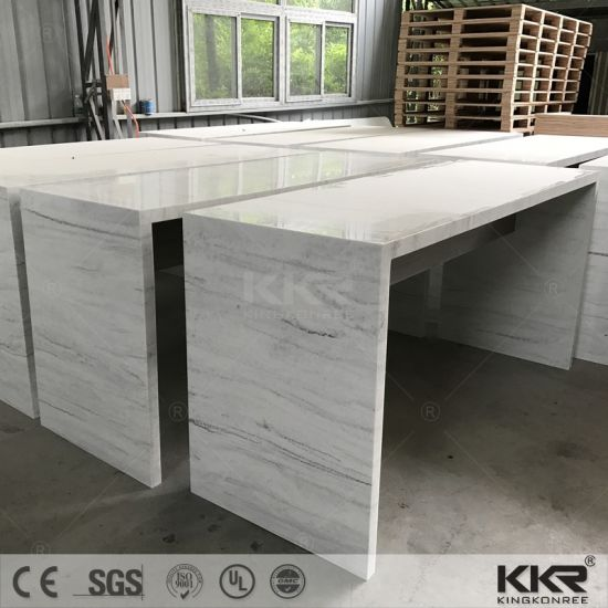 Artificial Marble Custom Made Long Narrow Marble Bar Table