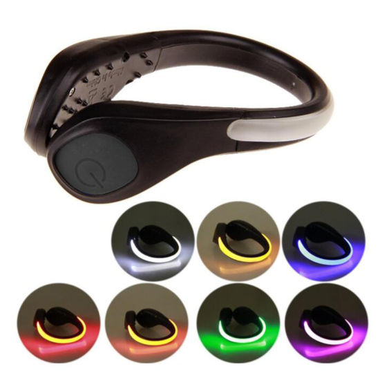Reflective Safety Night Running Gear Shoes Clip LED Light for Runners Joggers Bikers Walkers Strobe and Steady Flash Mode