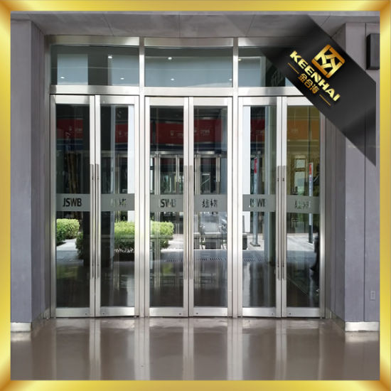 China Exterior Stainless Steel Glass Commercial Entry Security Door
