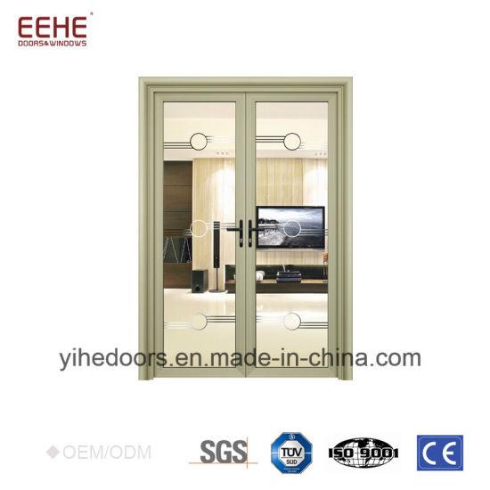 China Hotel Hall Oval Glass Entry Door Aluminium Hinged Door China