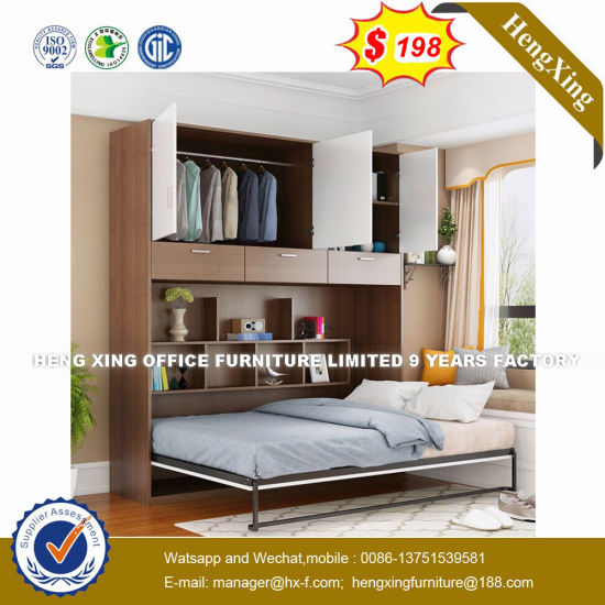 Top-Selling Hardware Soft Leather  Folding Wall Beds (HX-8NR1005) pictures & photos