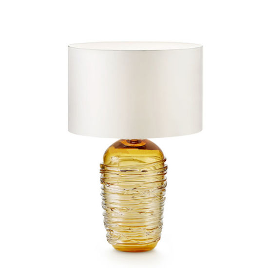 Modern Colored Amber Crystal Glass Table Lamp, Hotel/Living Room Reading  Light Lighting In High Quality