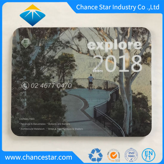 Customized Promotion Mouse Pad with Paper Calendar pictures & photos