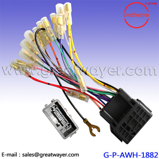 china mitsubshi cd player 24 pin car stereo wiring harness rh greatwayer en made in china com aftermarket stereo wiring harness for 2003 suburban aftermarket radio wire harness