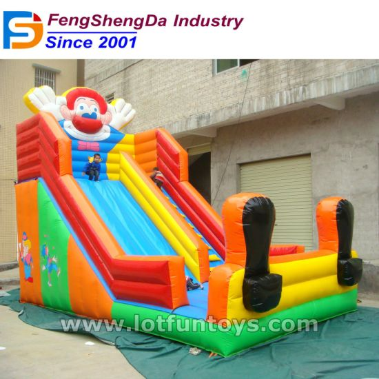 Clown Cartoon Inflatable Bouncer Toy Bouncy Slide Sliding Game (BS-01) pictures & photos