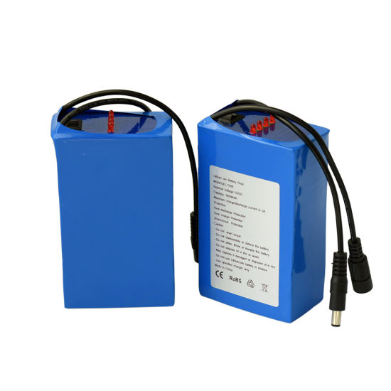 Rechargeable 12V 6600mAh 18650 Lithium Battery Pack for LED Light pictures & photos