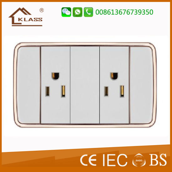Factory Price 2gang Switch+3pole Socket pictures & photos