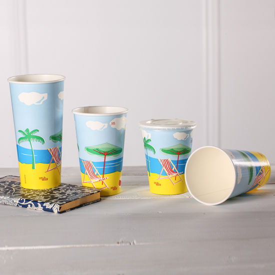 20oz Paper Cup/ Cold Drinking Paper Cup/ Disposable Paper Cup pictures & photos