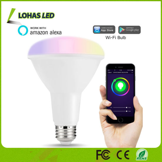 APP Controlled LED Light Bulb Tuya APP/Amazon Alexa/Google Home Voice  Controlled WiFi Smart LED Bulb Br30 10W