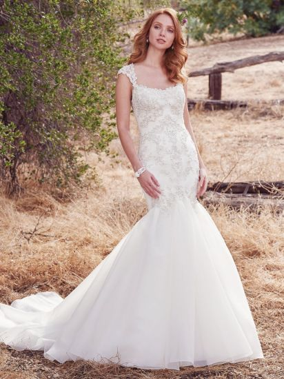 China Amelie Rocky 2018 Lace Organza Mermaid Bridal Gown - China ...