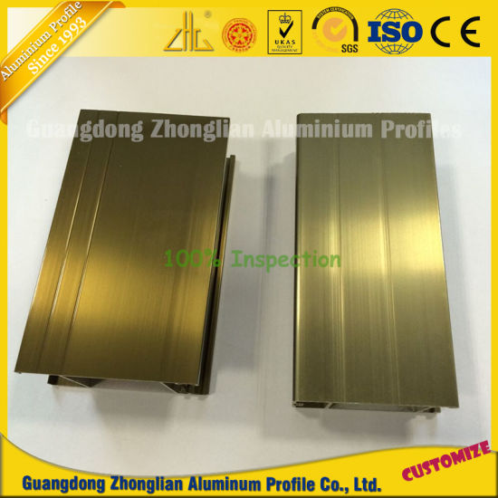 Electrophoresis Champagne Aluminum Profile for Furnitures Decoration pictures & photos