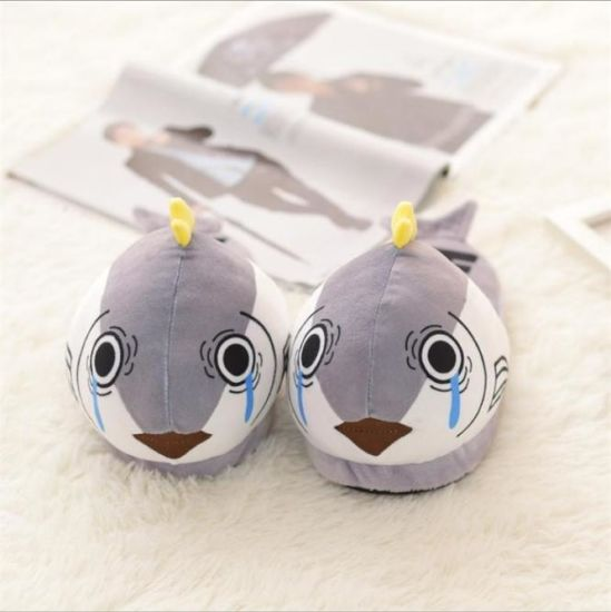 Home Soft Fish Shaped Plush Slippers