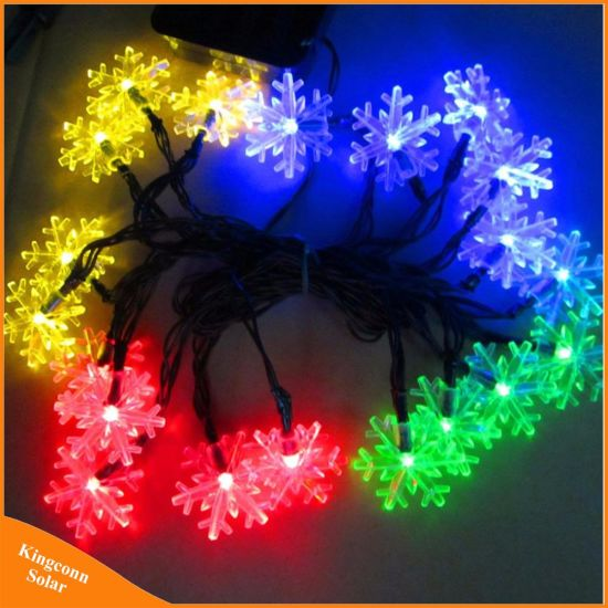 China 20 led snow flake flowers solar string fairy lights waterproof 20 led snow flake flowers solar string fairy lights waterproof outdoor solar string lights decorated garden christmas aloadofball Gallery