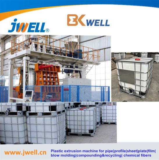 Made in China Jwell&Bekwell 1000L Plastic Blow Molding Machine for Making IBC Water Tank