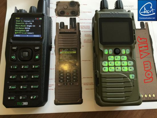 China Military Handheld Radio Transceiver in 30-88MHz/5W with AES