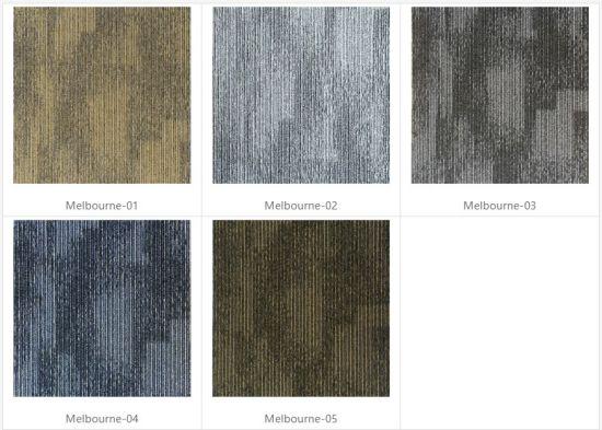 100 Pp Commercial Office Usage Floor Carpet Tiles Modern Design Fireproof Colourful Flooring Rugs Tile
