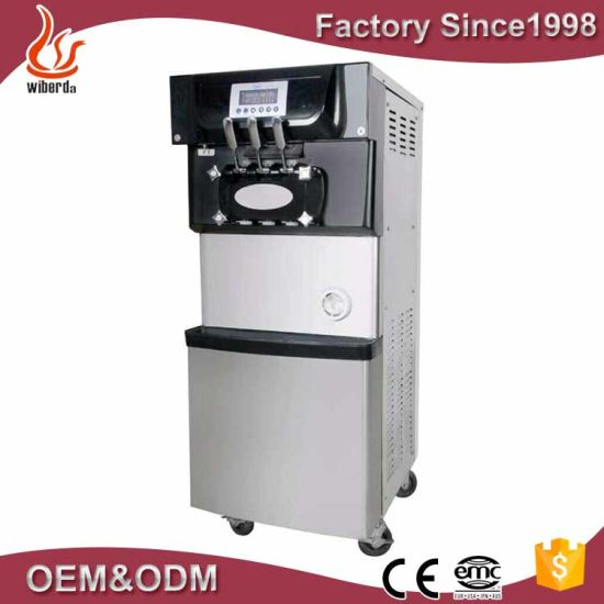 Three Flavor Soft Ice Cream Machine /Soft Serve Fry Ice Cream Making Machine to Ice Cream Machine Customers