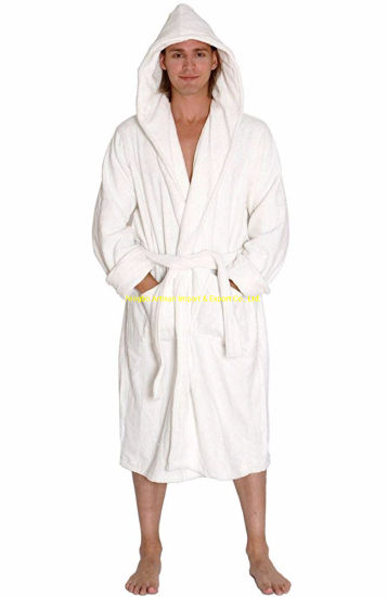 Supplier Soft Polyester Comfortable Men Hotel White Waffle Terry Pajamas pictures & photos