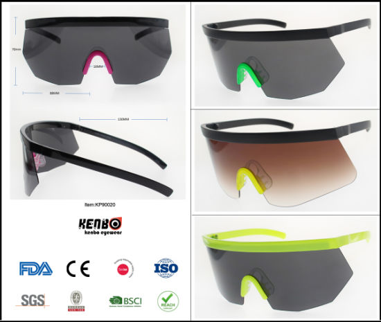 2019 New Oversize Mask Fashion Best Selling Plastic Sunglasses, Item No. Kp90020 pictures & photos