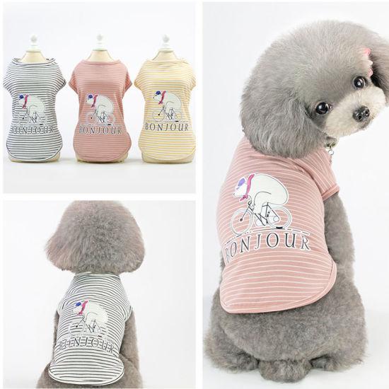 Supply 100% Cotton Dog T-Shirt Pet Clothes