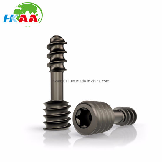 Anodized Titanium Alloy Self-Tapping Medical Screw pictures & photos
