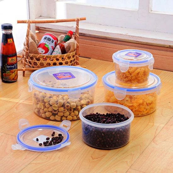 Multi Sizes Round Food Storage Containers with Lids/Clear Food Container