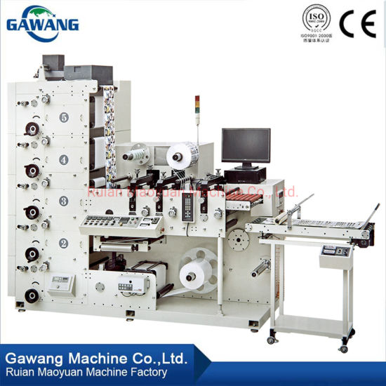 Hot Sale Label Roll to Roll Screen Printing Machine with Slitting for Paper Straw/Plastic Film/Plastic Bottle