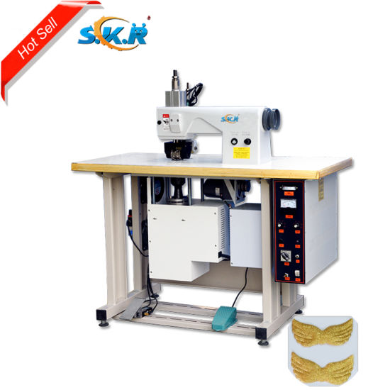 China Manufacturing Semi-Auto Ultrasonic Lace Sewing Machine in Lace Wig Making