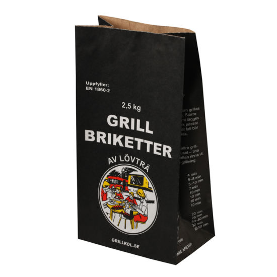 Black Printing Charcoal Paper Bag Design Picture