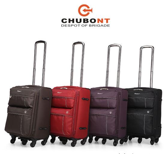 Chubont Factory Customize Nylon Spinner Wheels Soft Travel Trolley Luggage